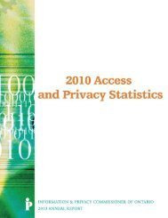 Statistical Adjunct - Information and Privacy Commissioner of Ontario