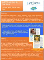 An IPC Media Awards Case Study - IPC | Advertising