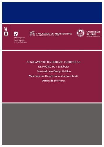 REGULAMENTO DA UNIDADE CURRICULAR DE PROJECTO ...