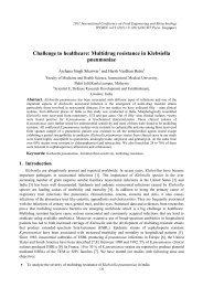 Multidrug resistance in Klebsiella pneumoniae - ipcbee