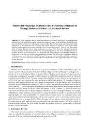 Nutritional Properties of Abelmoschus Esculentus as ... - ipcbee