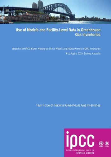 Use of Models and Facility-Level Data in Greenhouse Gas Inventories