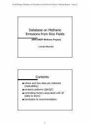 Database on methane emissions from rice fields - IPCC - Task Force ...