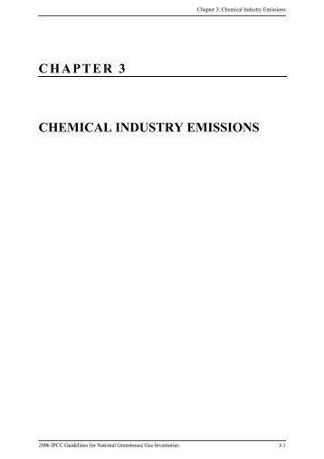 chapter 3 chemical industry emissions - IPCC - Task Force on ...