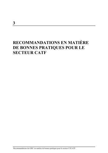 Recommandations du GIEC