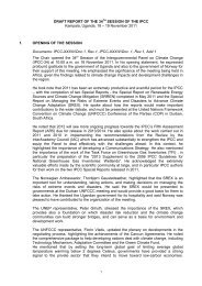 DRAFT REPORT OF THE 34th SESSION OF THE IPCC