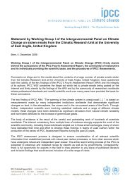 IPCC statement - IPCC - Working Group I