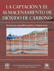 La captación y el almacenamiento de dióxido de carbono - IPCC