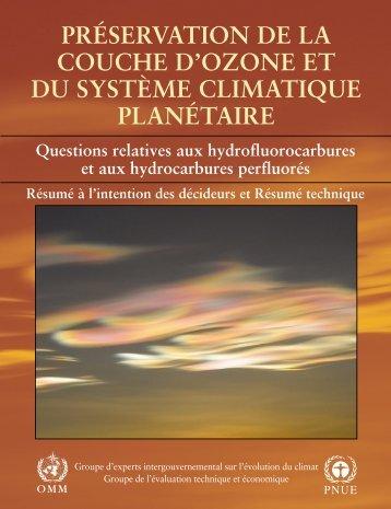 préservation de la couche d'ozone et du système climatique ... - IPCC