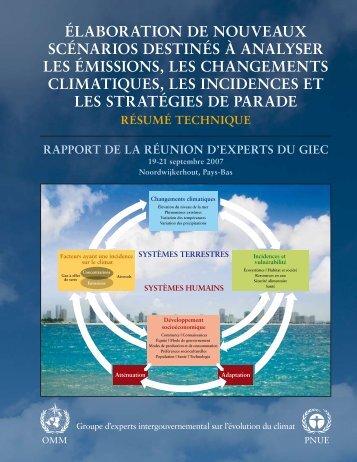 Élaboration de nouveaux scÉnarios destinÉs à analyser les ... - IPCC