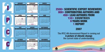2500+ scientific expert reviewers 800+ contributing authors ... - IPCC