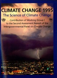Second Assessment Report (SAR) - IPCC