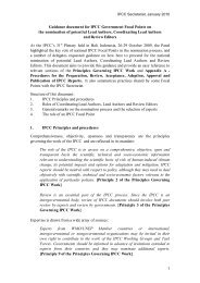 Guidance document for IPCC Government Focal Points on the ...