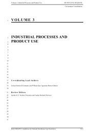 VOLUME 3 INDUSTRIAL PROCESSES AND PRODUCT USE - IPCC