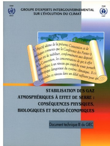 Stabilisation des gaz atmosphériques à effet de serre - IPCC