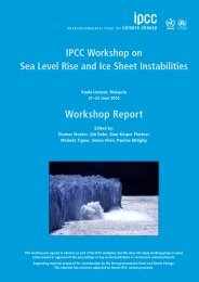IPCC Workshop on Sea Level Rise and Ice Sheet Instabilities