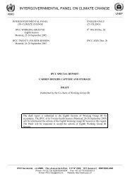 Technical Summary - IPCC