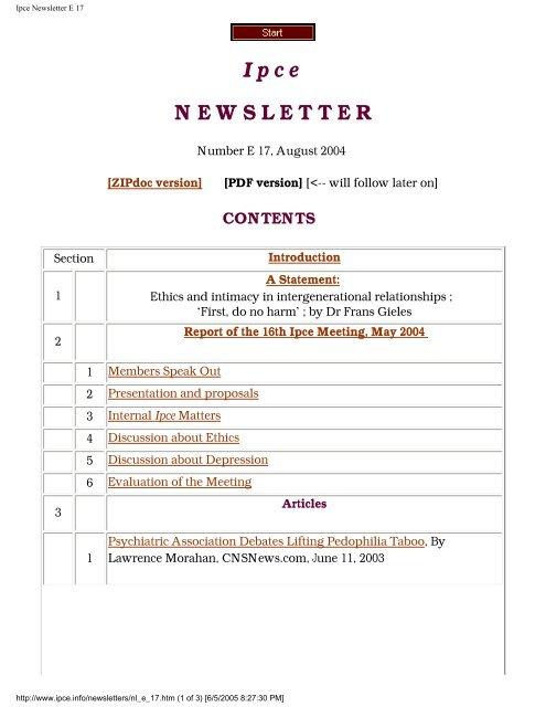 Ipce Newsletter E 17