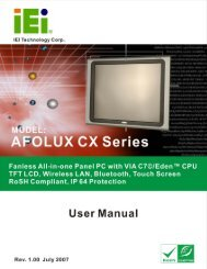 AFOLUX CX Series Flat Panel PC User Manual - iPCMAX.com