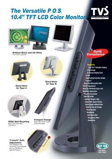 "The Versatile P.O.S. 10.4"" TFT LCD Color Monitor - iPCMAX.com"