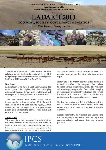 complete programme - Institute of Peace and Conflict Studies