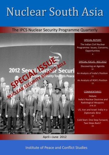 April-June 2012 - Institute of Peace and Conflict Studies