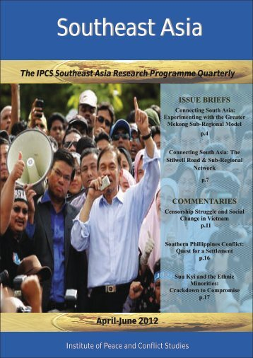 April-June 2012 - Institute of Peace and Conflict Studies
