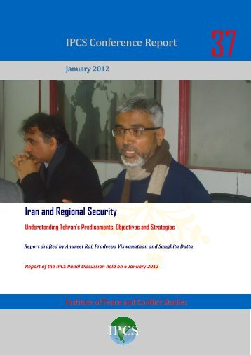 CR 37- Iran Panel Discussion - Institute of Peace and Conflict Studies