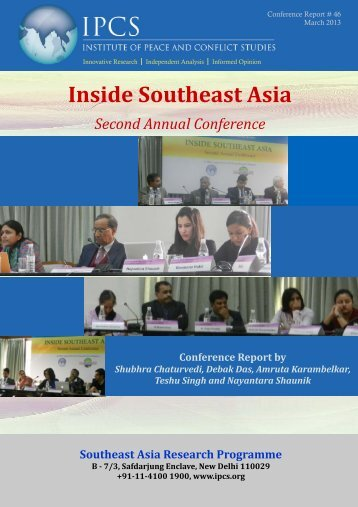 Inside Southeast Asia - Institute of Peace and Conflict Studies