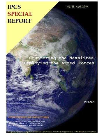 IPCS SPECIAL REPORT - Institute of Peace and Conflict Studies