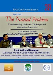 The Naxal Problem - Institute of Peace and Conflict Studies