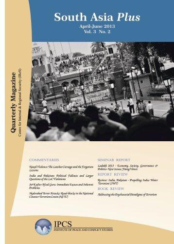 April-June 2013 - Institute of Peace and Conflict Studies