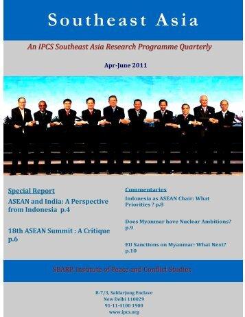 April-June 2011 - Institute of Peace and Conflict Studies