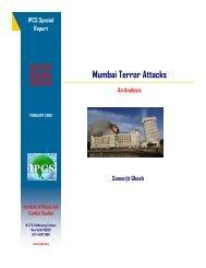 Mumbai Terror Attacks - Institute of Peace and Conflict Studies