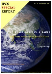 Even Skies are not a Limit: India-ASEAN - Institute of Peace and ...