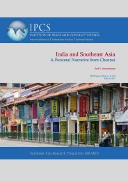 India and Southeast Asia: A Personal Narrative from Chennai