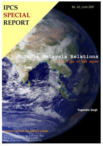 IPCS SPECIAL REPORT - Institute of Peace and Conflict Studies