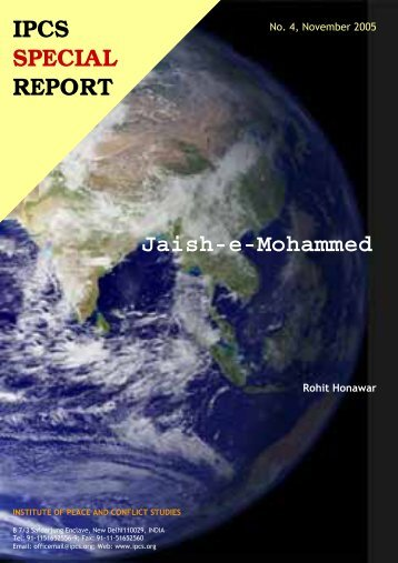 Jaish-e-Mohammed - Institute of Peace and Conflict Studies