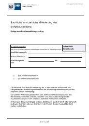 Industriemechaniker/Industriemechanikerin Ausbildungsplan