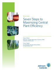 Seven Steps to Maximize Central Plant Efficiency