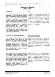 Summary of Findings 調查結果摘要 - 知識產權署