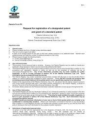 Patents Form P5