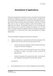 Amendment of applications
