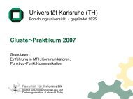 MPI Folien 1 - Institute for Program Structures and Data Organization