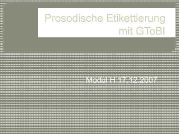 Prosodische Etikettierung mit GToBI.pdf - IPdS in Kiel
