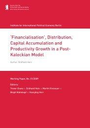 'Financialisation', Distribution, Capital Accumulation and ... - IPE Berlin