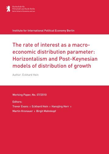 The rate of interest as a macroeconomic distribution ... - IPE Berlin