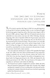 The 2002-2007 US Economic Expansion and the Limits of Finance ...