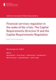 Financial services regulation in the wake of the crisis ... - IPE Berlin