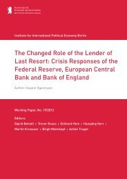 The Changed Role of the Lender of Last Resort: Crisis ... - IPE Berlin